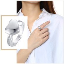 Classic Heart Cremation Urn Rings for Women Hold Loved Ones Ashes Keepsake Memorial Jewelry circle of life eternity love necklace keepsake waterproof memorial pendant ashes holder necklace for women men cremation jewelry