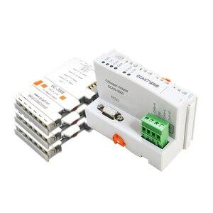 GCAN-8000 CANopen adapter fieldbus remote I/O coupler modbus tcp remote io card with 32 I/O CANopen Communication module.