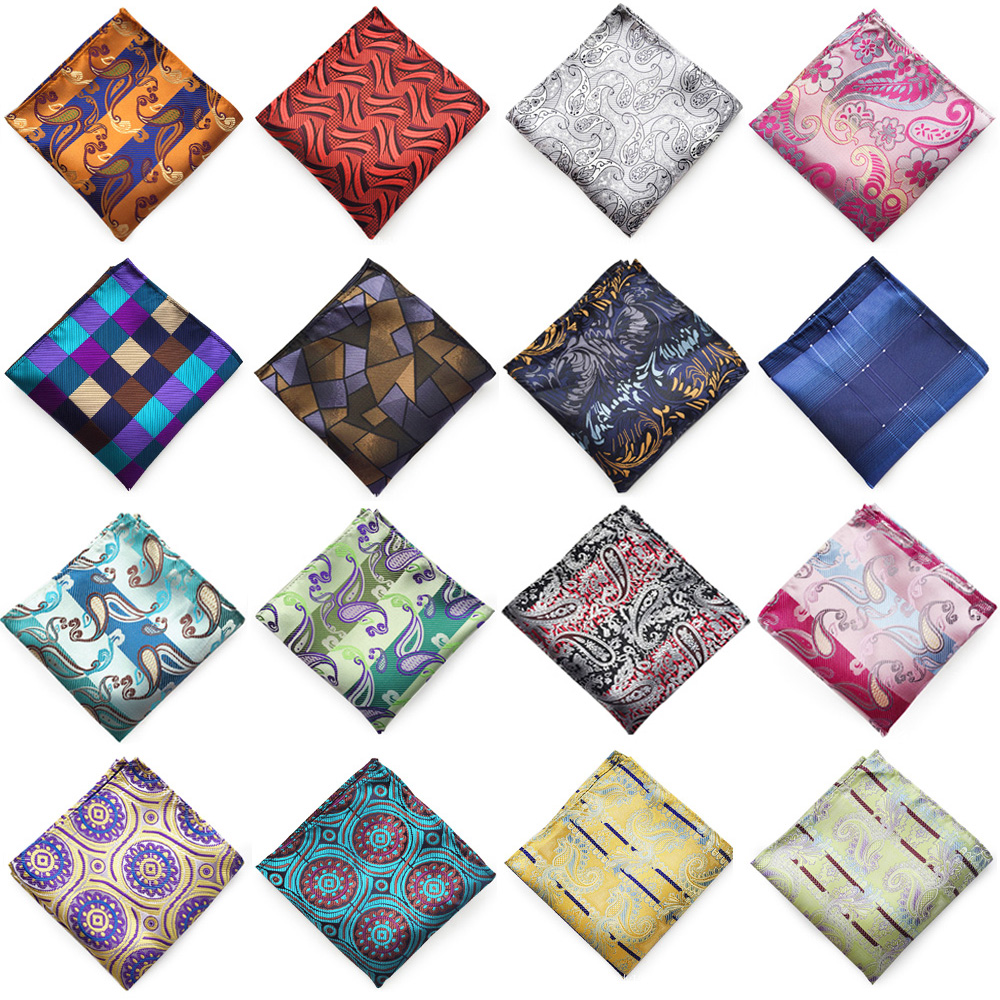 Mens Multi-Color Printed Hanky Handkerchief Wedding Party Formal Pocket Square
