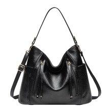 Luksusowe torba kobieca torebki kobiety znane marki Messenger torby dla 2019 skórzane projektant torebki Vintage, duże Hobos kobieta torba bolso
