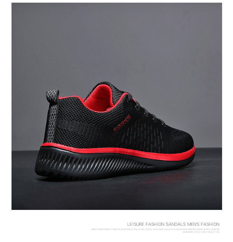 H1445e56cd3864645b6e48d8c3acaf2a6J New Mesh Men Casual Shoes Lac-up Men Shoes Lightweight Comfortable Breathable Walking Sneakers Tenis masculino Zapatillas Hombre