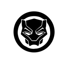 The Avengers Black Panther Sign Car Wall Sticker Vinyl Marvel Movie Logo Decor Auto Window Decals Removable Murals