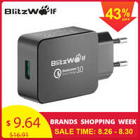 BlitzWolf 18W EU Plug UK US AU prise Charge rapide 3.0 voyage chargeur mural téléphone adaptateur universel pour Micro USB type C pour iPhone