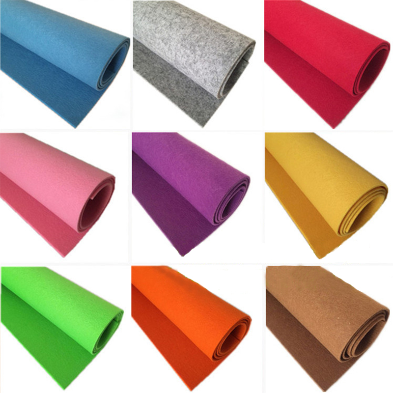DIY Production Colorful Fabric 1mm Thickness Handicraft Class Scrapbook Manual Course Materials Home Sewing Felt Cloth 1M/3M/5M