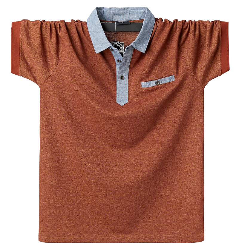 Men   Polo   Shirt Mens Contrast   Polo   Shirts Cotton   Polo   Shirt 6XL Plus Size Casual Classic Summer Men's Clothing Pocket Tops Tees