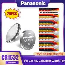 20 pces panasonic cr1632 cr 1632 3v li-ion bateria de lítio dl1632 br1632 ecr1632 gpcr para o brinquedo calculadora relógio botão pilha moeda