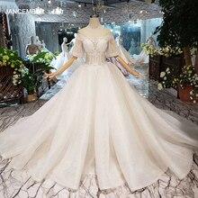 HTL281 дешевое свадебное платье с О образным вырезом, полурасклешенными рукавами, корсет, женское свадебное платье со шлейфом, бесплатная доставка, simpleplate из фатина