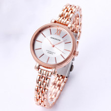 KINGNUOS Rose Gold Women Watchs Stainless Steel Quartz Watch Business Ladies Watch Japanese Quartz Movement Relogio Feminino(China)