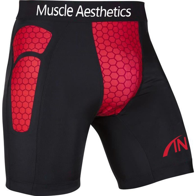 Mens Shorts Summer Gyms Fitness Bodybuilding Work Out Running Bicycle Quick Dry Skinny Compression Printed Sportwear Shorts Men