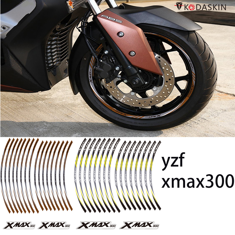 KODASKIN 2D Wheel Rim Emblem Sticker Decal for Yamaha XMAX300 xmax 300 yzf