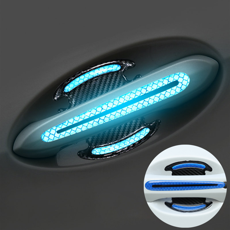 Car <font><b>Door</b></font> <font><b>Handle</b></font> Bowl Safety Sticker Reflective Strip For Volkswagen Golf <font><b>Ford</b></font> <font><b>Focus</b></font> 2 3 Fiesta Mondeo Kuga Citroen C4 C5 image
