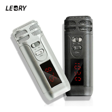 Leory mini reverb handheld fm microfone sem fio para o guia turístico altifalante megafone conferência microfones de ensino mic