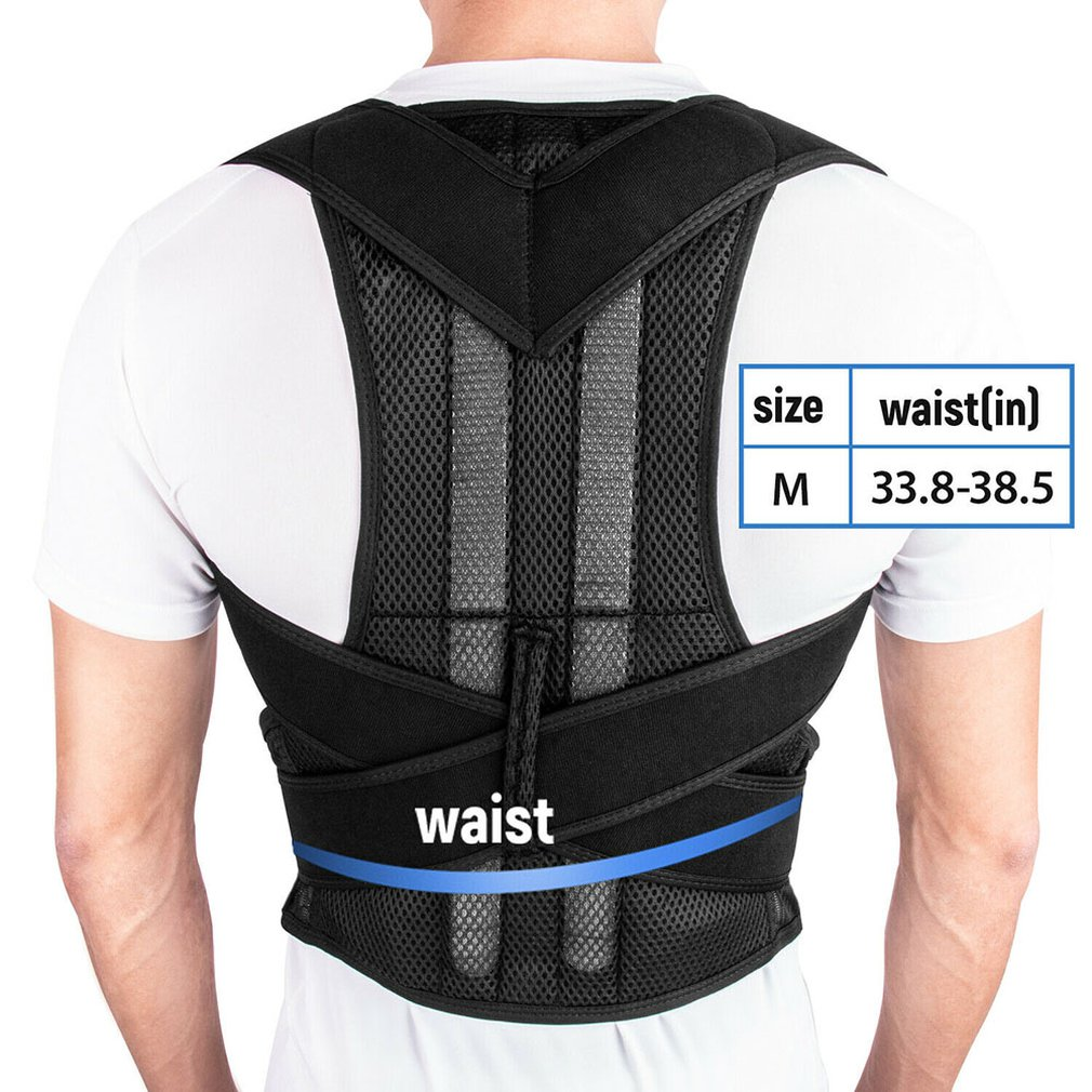 Back Posture Correction Shoulder Corrector Support Brace Belt Therapy Men Women Black Color Durable Portable