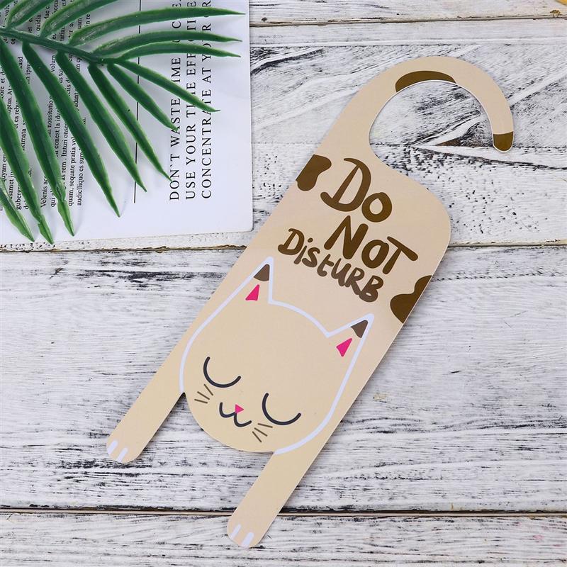 2pcs Door Sign PVC Cartoon Do Not Disturb Door Hanging Ornament Tags Shop Pendant for Club Cafe