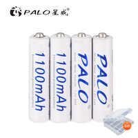 4-8 Uds AAA 3A 1100mAh batería recargable AAA NI-MH NI MH nimh batería 1,2 V 1,2 voltios original baterías de corriente de alta capacidad