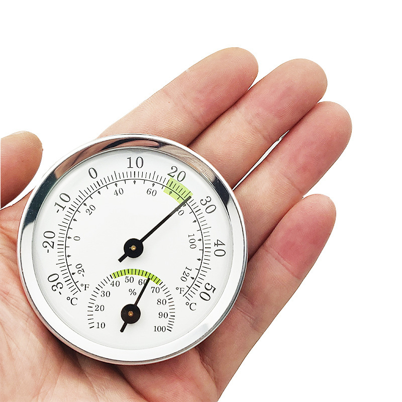 New Wall Mounted Thermometer Hygrometer Mini Humidity Meter Gauge For Room Household Portable Hygrometer Weather Station