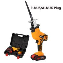 Cordless Reciprocating Battery Chainsaw Adjustable Electric Saws Saber-Saw Wood Handheld