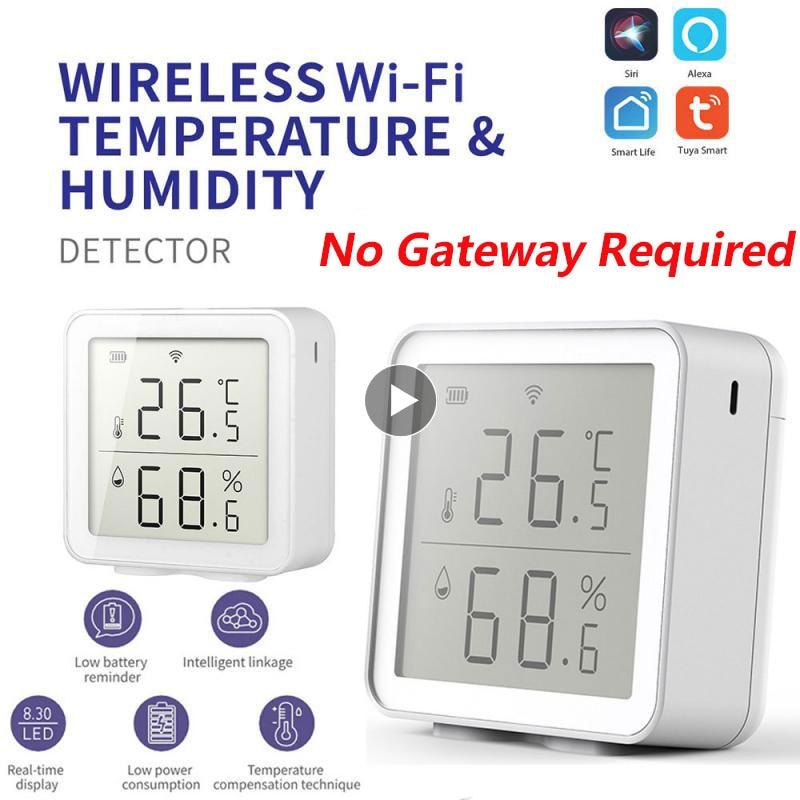 Tuya wi fi testador de temperatura alarme anormal sensor umidade termômetro higrômetro temperatura detector umidade inteligente casa