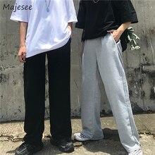 Men Pants Streetwear-Trousers Harajuku Wide-Leg Vintage Korean High-Waist Plus-Size All-Match