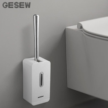 GESEW Toilet Brush Detachable Stainless Steel Floor-Standing Punch Free Long HandleToilet Bathroom Accessories Set