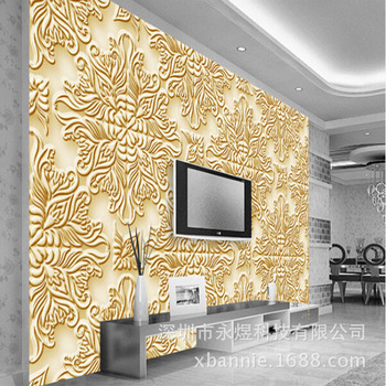 3D European Style Relief Fashion Decorative Pattern Wall Mural the Cool Brand Wallpaper Mural''