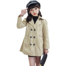Autumn Winter Kids Girls Windbreaker Trench Coats Double Breasted Jackets For Girls Clothing Tops Outerwear Kids Clothes Jackets