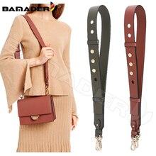 BAMADER Genuine Leather Bag Strap High Quality Rivet Wide Shoulder Strap Fashion Adjustable 90cm 110cm Women Bag Accessories New