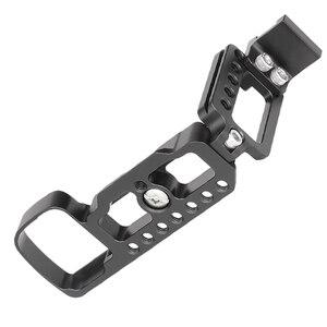 Image 4 - Soporte de placa QR L de aluminio CNC para Sony A6400, soporte de la cámara Dslr con accesorio de zapata fría