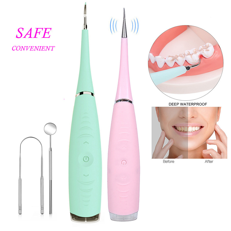 Vibrition Sonic Dental Scaler Usb Recharge Tooth Calculus Remover Tooth Stains Tartar Cleaner Tool Whiten Teeth Dropshipping