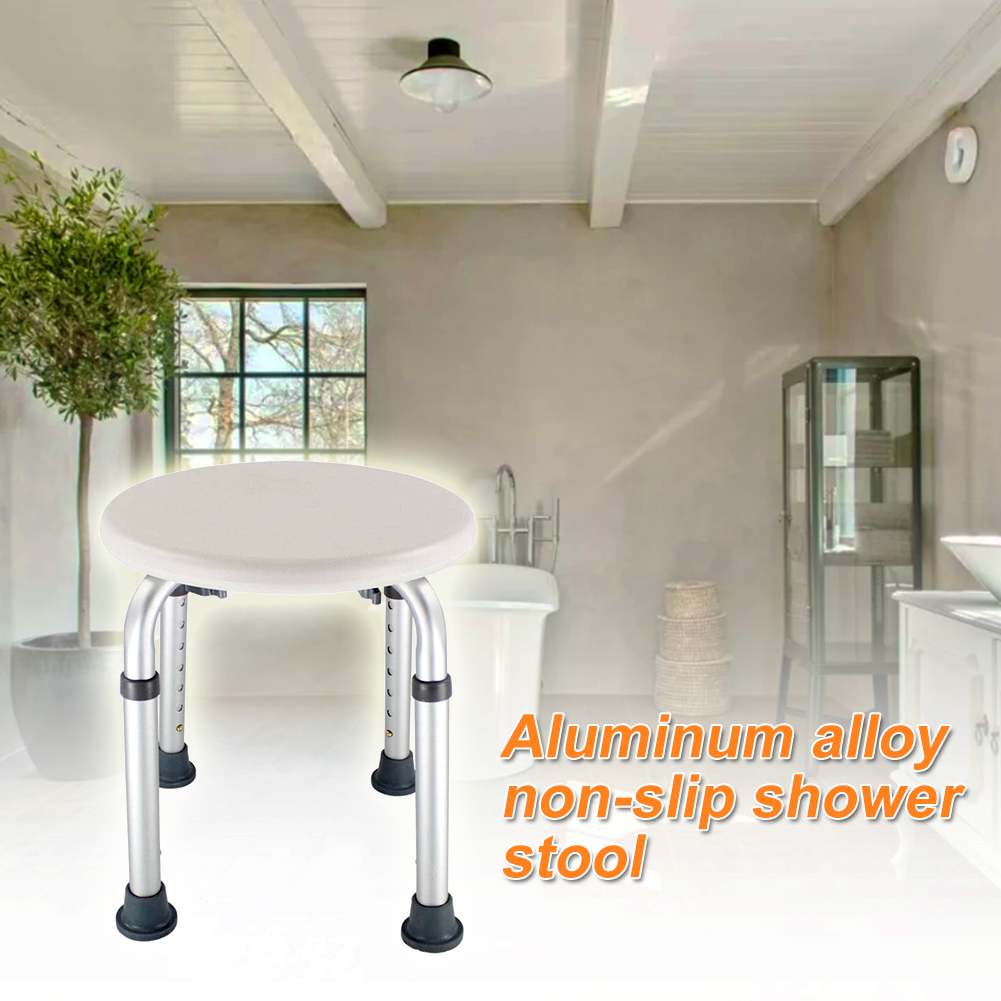 Disabled Home Chair Non Slip Seat Older Pregnancy Kids Shower Stool Furniture Toilet Height Adjustable Round Easy Clean Bath