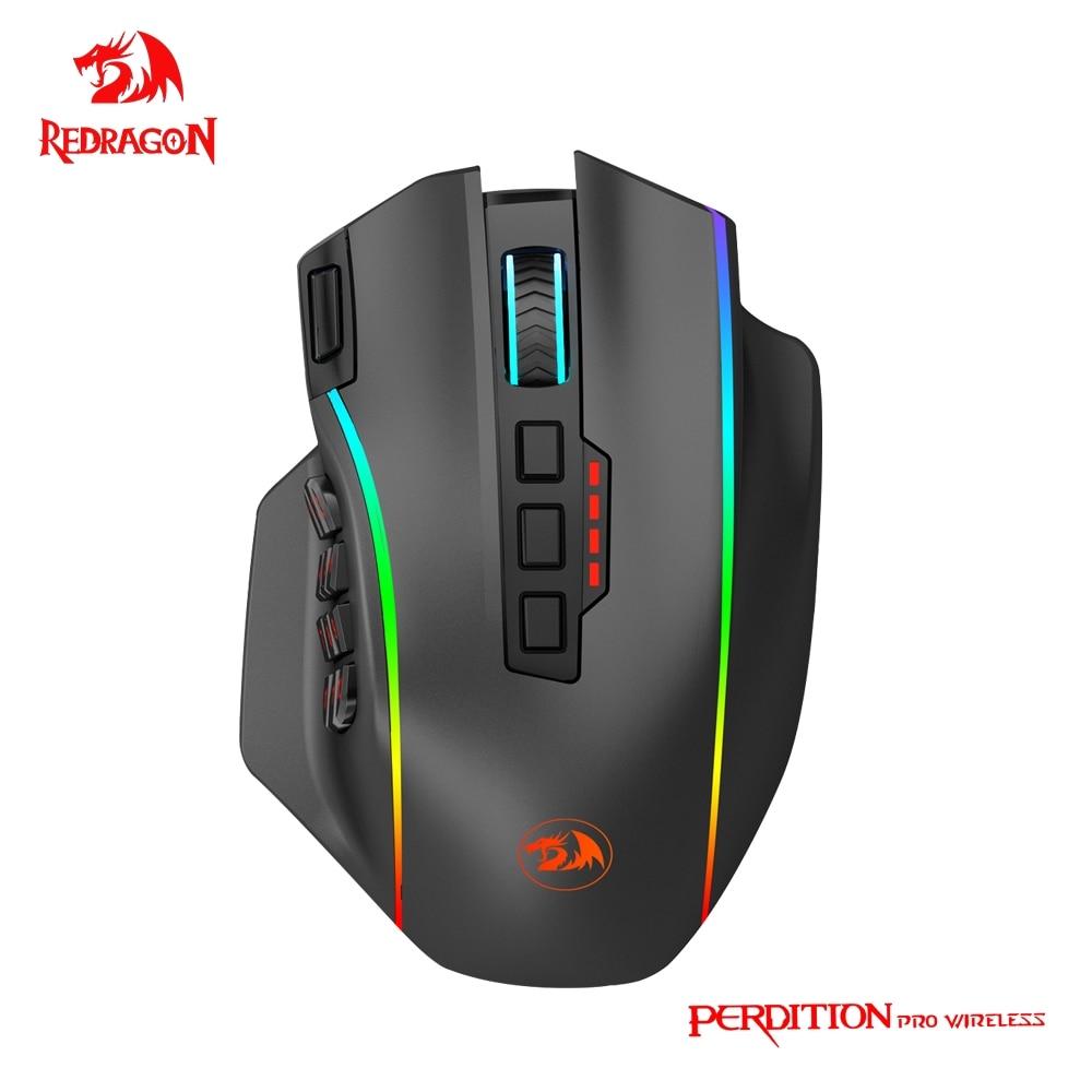 REDRAGON Perdiction Elite M901-KS RGB USB 2,4G Wireless Gaming Maus 16000DPI 19 tasten Programmierbare ergonomische für gamer Mäuse