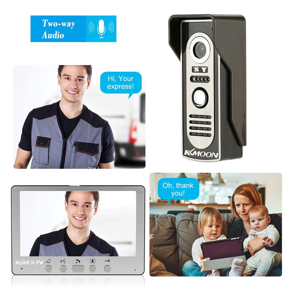 KKmoon 7'' TFT Waterproof Wired Door Intercom System With Camera and Speaker 5