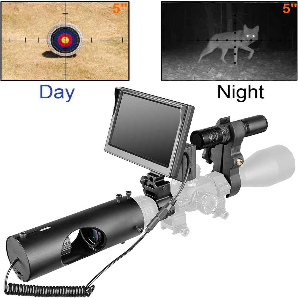 850nm Infrared LED IR Night Vision Riflescope Hunting Scopes Optics Sight Waterproof Hunting Camera Hunting Wildlife Night Visi