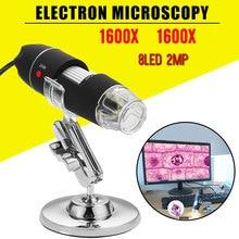 Ручной эндоскоп практичный портативный ABS 8LED водонепроницаемый монитор компьютеры цифровой микроскоп мобильные телефоны