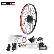 Набор для преобразования электровелосипеда 36V 500W передний задний колесный мотор комплект для велосипеда 20 24 26 27,5 28 29 inch 700C Электрический вел...
