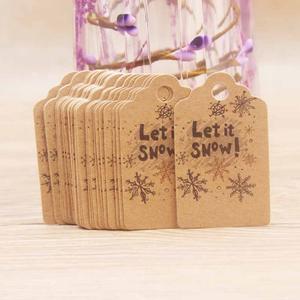 50 шт./лот 5*3 см милые рождественские бирки, карточки из крафт-бумаги, бирки для подарков, бирки «сделай сам», подвесные карты, украшение для уп...