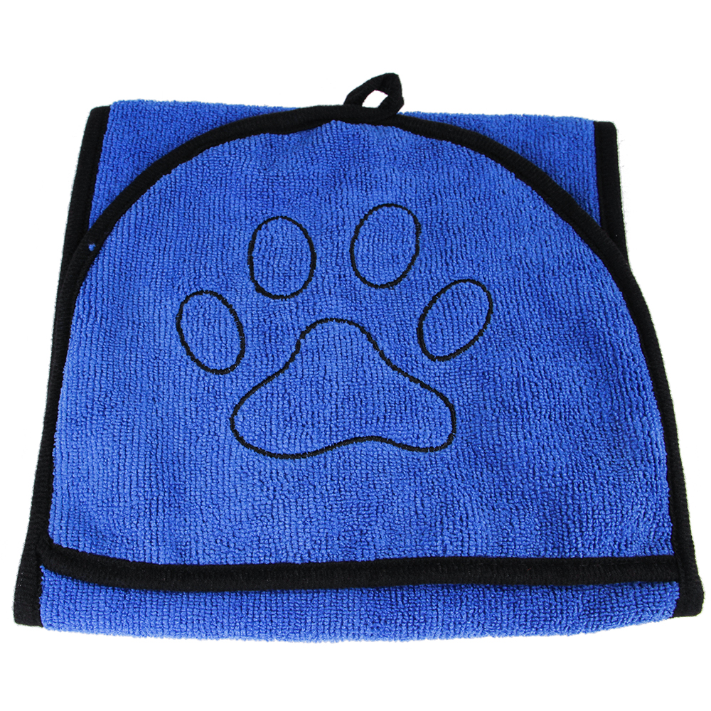 Dog Bath Towel For Dog Cat Pet Glove Bath Towel Pet Supplies Microfiber Super Absorbent Pet Drying Towel Blanket With Pocket