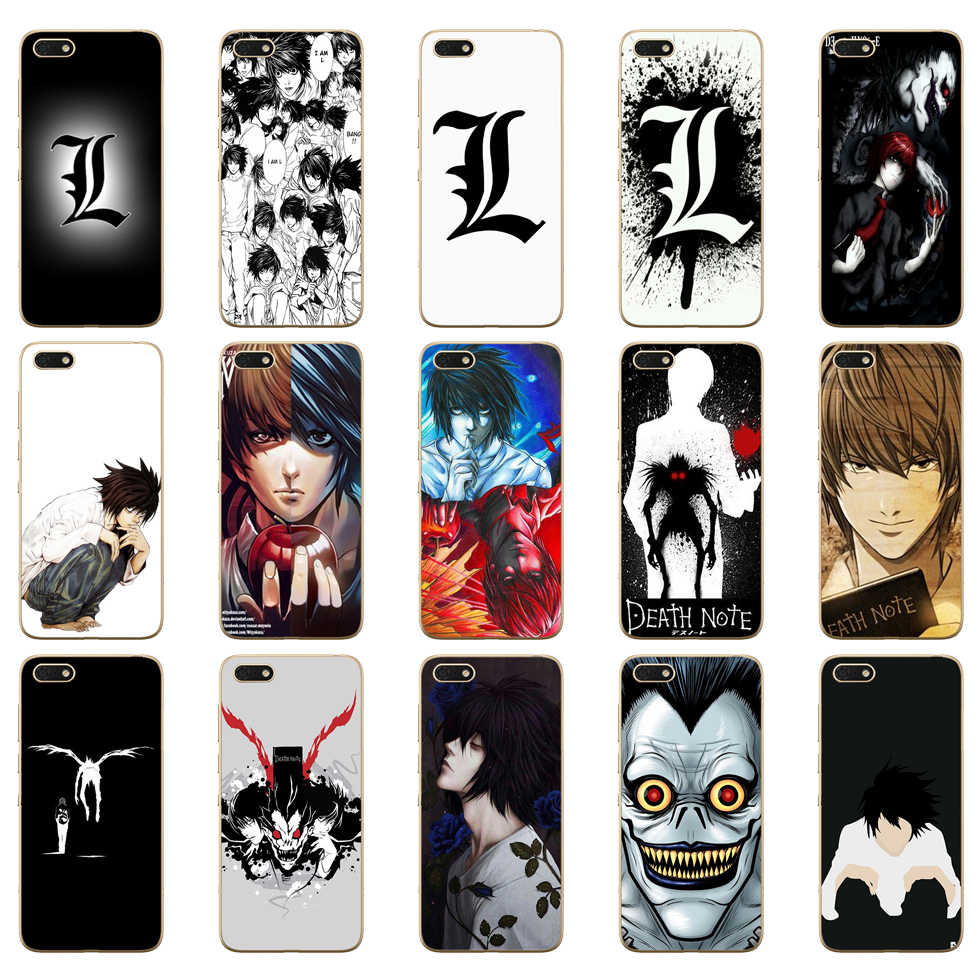 12DD Anime Death Note ontwerp Zachte Silicone Cover Case voor Huawei honor 9 10 Lite 7A 5.45 7a pro 7c 5.7 inch 7x 8x case