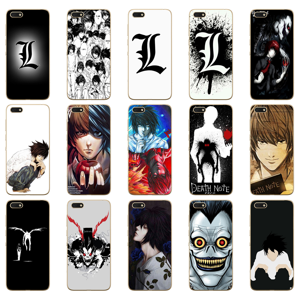 12DD <font><b>Anime</b></font> Death Note design Soft Silicone Cover Case for <font><b>Huawei</b></font> <font><b>honor</b></font> <font><b>9</b></font> 10 <font><b>Lite</b></font> 7A 5.45 7a pro 7c 5.7 inch 7x 8x case image