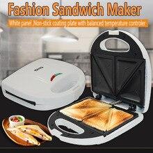 Бытовой завтрак хлеб тостеры Мини электрическая автоматическая машина для производства сэндвич с антипригарным покрытием штепсельная вилка европейского стандарта 750W 220V