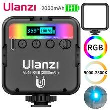 Ulanzi VL49 Mini RGB LED Video Light Portable Pocket photography Light Vlog Fill Light for Smartphone DSLR SLR Camera Lamp