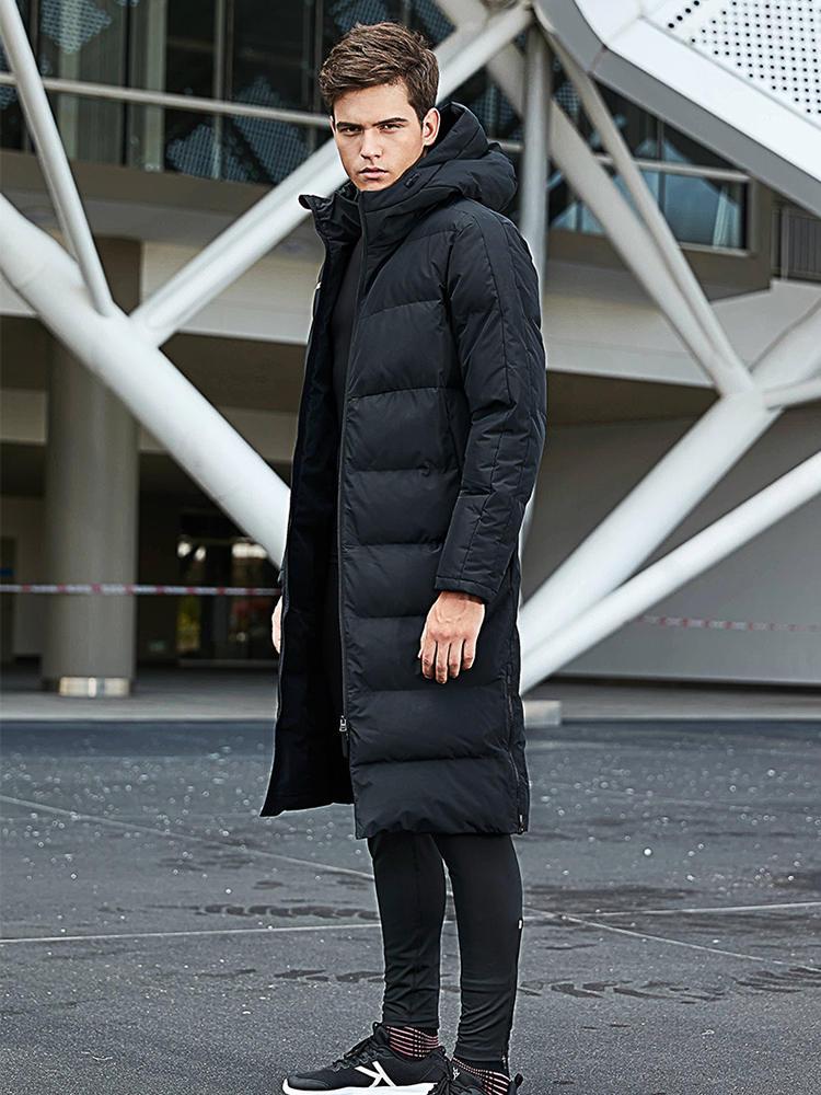 Мужская зимняя куртка KELME, длинная однотонная Спортивная тренировочная куртка, Мужская верхняя одежда, теплая искусственная кожа для мужчи...