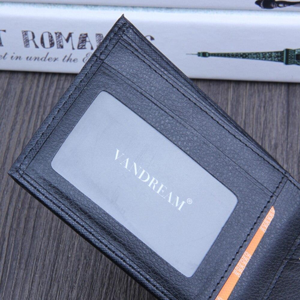 Men Bifold Business Leather Wallet  ID Credit Card Holder Purse men's wallet clutch portfel cuzdan billetera carteira  (16)