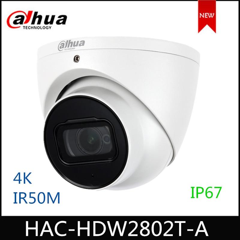 Dahua HAC-HDW2802T-A 4K Starlight HDCVI IR Dome CCTV Camera 8MP IR 50m built-in mic Analog Camera