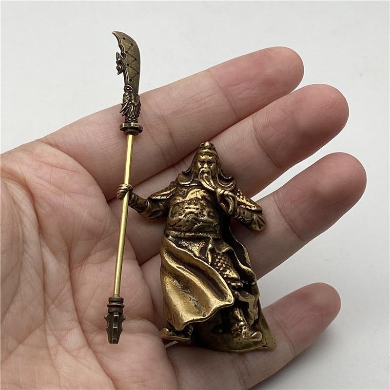Brass Guangong Figurines (8)