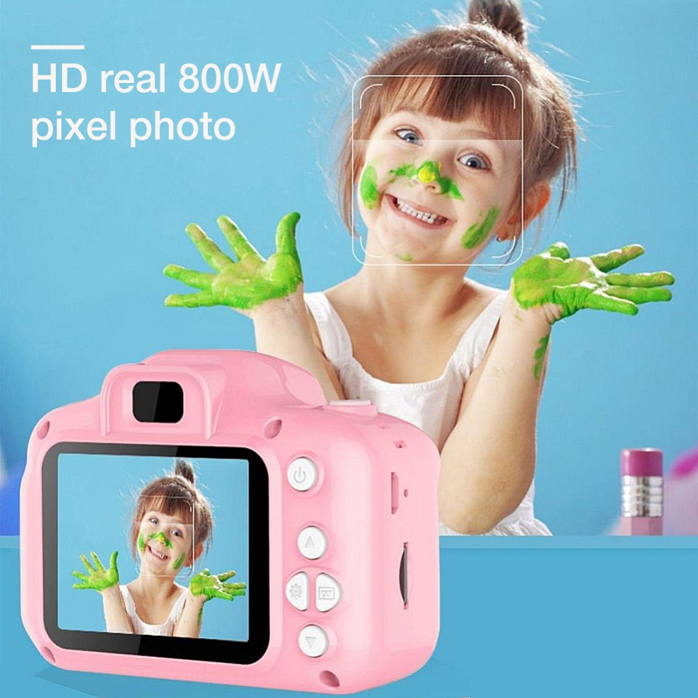 H144839eecf8a4ece9912452e2fb5bf34e Rechargeable Kids Mini Digital Camera 2.0 Inch HD Screen 1080P Video Recorder Camcorder Language Switching Timed Shooting #S