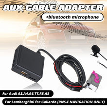 Hi Fi Audio Mobil Bluetooth 5.0 Modul AUX Mikrofon Kabel Adaptor Radio Stereo untuk Audi A3 A4 A6 A8 TT R8 untuk RNS-E CD Unit(China)
