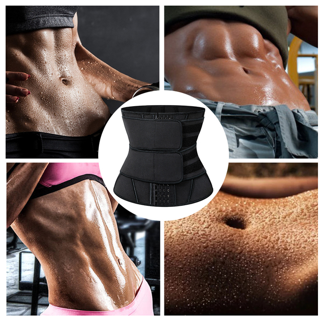 13 Steel Boned Waist Trainer Corset Cincher Sauna Sweat Faja Sport Girdle Slimming Shaper Abdominal Trimmer Belt Straps Modeling 4