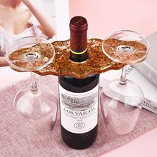 Wine Rack Silicone Mold DIY Irregular Red Wine Shelf Cup Pad Molds For Uv Resin Home Decoratin Art Resin Mould