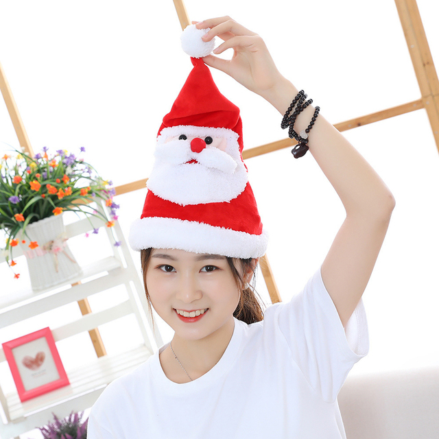 Electric Christmas Hat Plush Toys | Christmas hat for decoration, gift for boys and girls